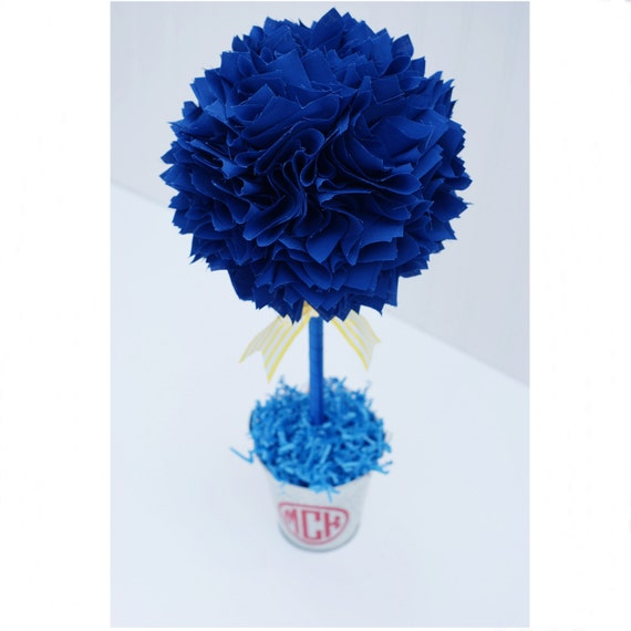 Royal Blue Baptism Centerpiece : Royal blue centerpiece graduation party