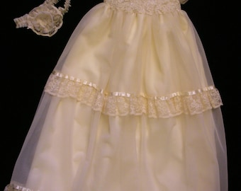 Lia's Custom Christening or Baptism Gown made to order from your Wedding Dress