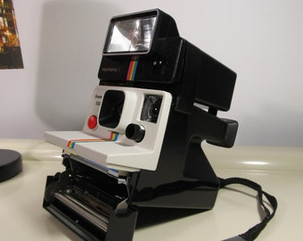 Vintage Polaroid Supercolor 1000 Rainbow Land Camera Sx-70 type instant film with Flash Polatronic 1