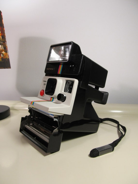 vintage polaroid supercolor 1000 rainbow land camera sx 70. Black Bedroom Furniture Sets. Home Design Ideas