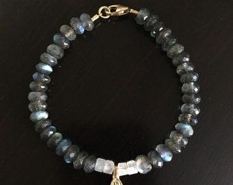 Buddhist Labradorite Bracelet