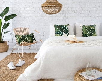 MONSTERA PALM Cushion - insert included