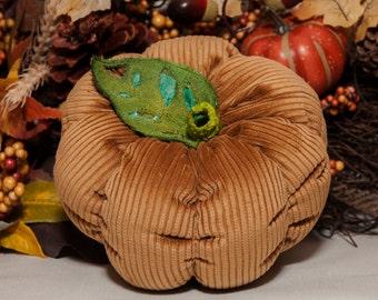 Fabric Pumpkin in Gold Cord Fabric