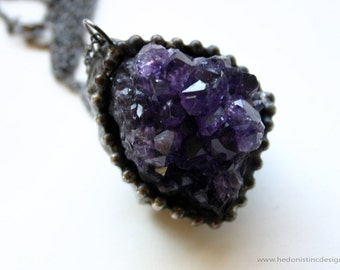 Amethyst Cluster Necklace - C