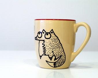 Funny fox mugs Unique coffee mugs Fox hand painted mug Fox gift Fox lady mug Animal coffee mugs Fox illustration Fox birthday gift Fox art
