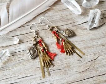 Eternal - Bohemian earrings - hand jewelry  - ethnic tribal boho jewelry