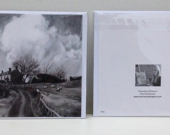 Pack of 3 'The Farmhouse' Greeting Cards