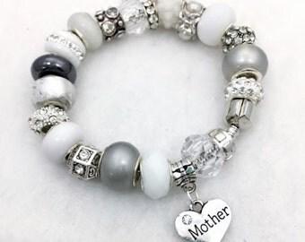 Mother charm bracelet