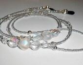 Elegant Beaded Eyeglass Chain, SALE Eyeglass Chain, Eyeglass Holders, Eyeglass Chain, Eyeglass Necklace, Beaded Eyeglass Chain, EC22169
