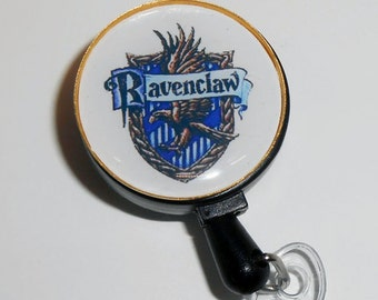Ravenclaw Id Badge Holder- ID Badge Holder - Retractable Badge Holder, Harry Potter Badge Reel, Stethoscope Id Badge, Harry Potter Id Badge