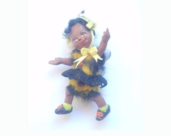 Baby Bumble Bee hand made posable  dolls house doll