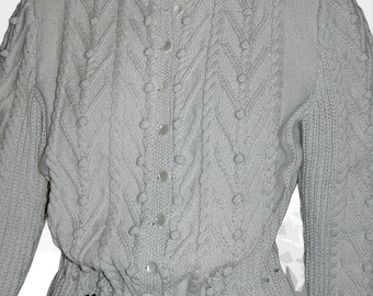 """Ladies' Cardigan with Austrian Inspiration """"Lake Louise"""" - the perfect companion for denim"""