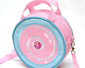 Rose Quartz shield lunch box / lunch bag