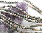 Lot of 5 strands 4mm Pink Zebra Jasper Loose Spacer Beads Round 15.5 inch strand (BD5764)