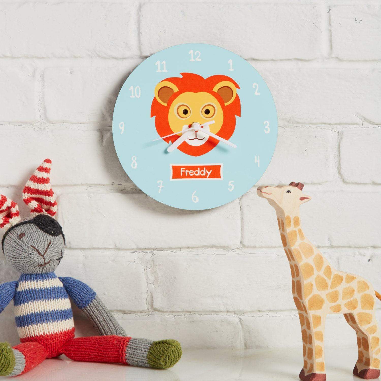 wall clock kids bedroom clock personalised bedroom clock