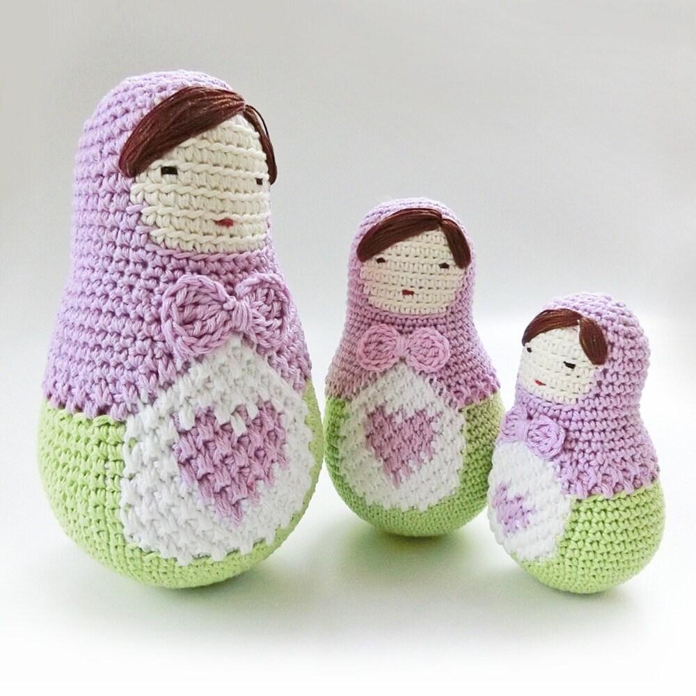 Amigurumi Klesik Doll : Crochet Amigurumi doll pattern Matryoshka pattern by goolgool