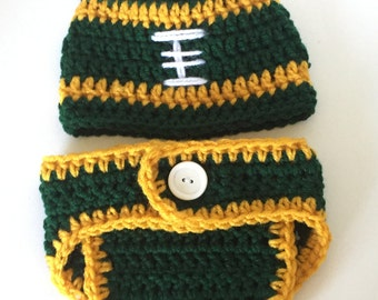 Football Baby Costume, Baby Clothes, Baby clothing, Newborn Diaper Cover, Infant Baby Shower Gift, Boys Football Baby Gift, Photo Prop,
