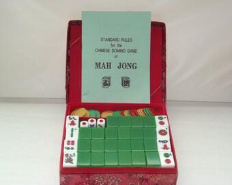 Vintage Mah Jong in it's original box (1960's)- RARE