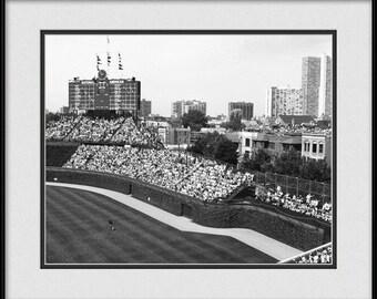 Chicago Cubs Print - Old Cubs Bleacher Seats