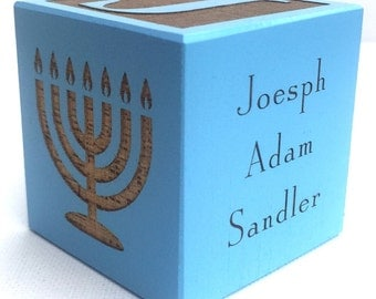 Personalized Baby's First Hanukkah Chanukah Baby's 1st Hanukkah Chanukah Gift Baby Hanukah Gift Personalized Menorah Gift Star of David Gift