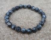 Dark Grey Beaded Bracelet, Gray Men's Bracelet, Unisex Bracelet, Boho Bracelet, Bohemian Bracelet, Gift for Him, Gift for Her, Minimalist