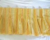 Vintage Yellow Valance Orange Valance 70s Kitchen Valance Pleated Valance Retro Valance Yellow Decor Window Valance Retro Kitchen 70s Decor