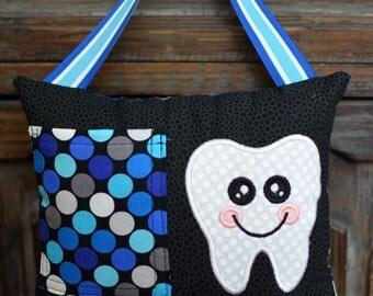 Tooth Fairy Pillow-Blue Dot