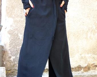 NEW Autumn / Winter Loose Cotton Black Harem Pants / Skirt like Pants / Extravagant Black Warm Pants by AAKASHA A05320