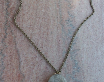 Fluorite Filigree Wrapped Necklace