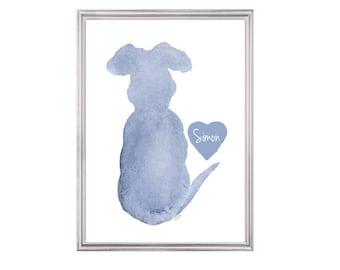 Dog Memorial, Dog Loss Gift, Pet Memorial,  Dog Sympathy Gift, Dog Condolence, Dog Memorial Gift, 5x7 Dog Print, Pet Loss Gift, Custom Pet
