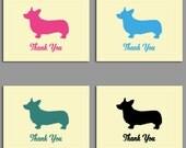 Corgi Thank You Cards Set - Corgi Dog Notecards