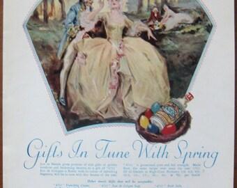 4711, Eau de Cologne, 1929, vintage, ad, original, perfume, cosmetics, English, advertisement, free shipping, paper, ephemera