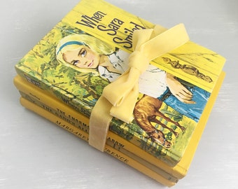 Vintage Yellow Book Stack
