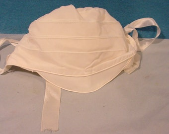Sweet Small Baby Bonnet, w/ Tie -Visor Cap Nylon