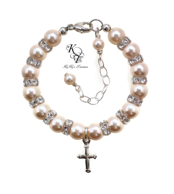 christening gifts baby bracelet baptism by kykystreasuresllc