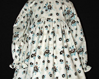 Girls long sleeve dress size 4 for fall and winter ready to ship MADE in the USA