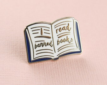 Banned Books Enamel Pin -  Book Enamel Pin Badge - Literature Jewellery - Gift for Book Lover - Reading Pin - Geek Gift - Bookish Enamel Pin
