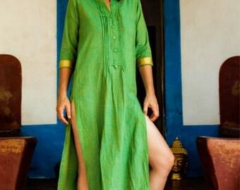 Maxi Jalabiya / Cotton Kaftan Jalabiya / Boho Kaftan / Indian Kaftan / Women's Abaya / Bohemian tunic / Hippie caftan / maxi caftan