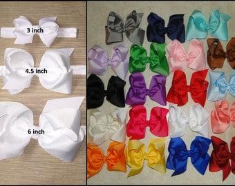 Pick 1 Bow Headband, Baby Headband, Hairbow, Hair Clips, Baby Headband, Boutique Bow, Baby Bows , Bow Headbands, Infant Bow, Bow, Cheer Bow
