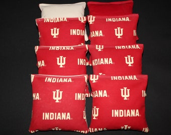 INDIANA University IU Cornhole Corn Hole Bean Bags Baggo Toss Tailgate Game 8 ACA Regulation Bags