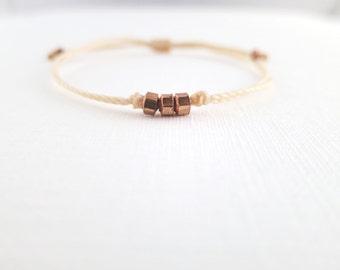 Triple Copper Nugget Bracelet