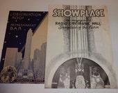 Radio City Music Hall, Rockefeller Center,Promenade Cafe, New York, NewYork Circa 1930's Menus and Programs