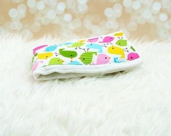 Baby Burp Cloth (Spring Birds) ||| burp rag, baby burp cloths, burping rag, baby shower gift, baby gift, new baby gift