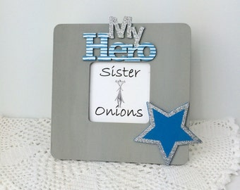 My Hero Embellished Picture Frame - Father's Day Picture Frame