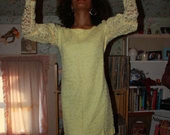 Yellow Mod Dollybird Dress  -As is-