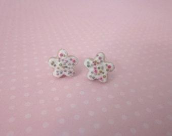 Food jewelry, cookie earrings, food stud earrings, mini food jewelry, polymer clay stud earrings