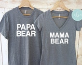 Papa Bear Mama Bear Shirt Set. Papa Bear Shirt. Mom and Dad Shirts. Best Mom Ever. Best Dad Ever. Mom Gift. Dad Gift. Father's Day Gift