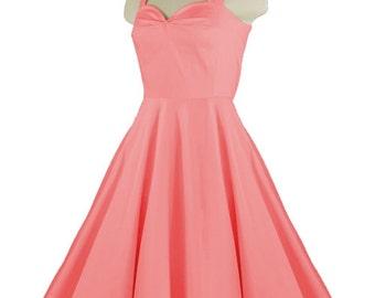 callista coral rockabilly swing rock u0027n roll dressfull circle coral dress