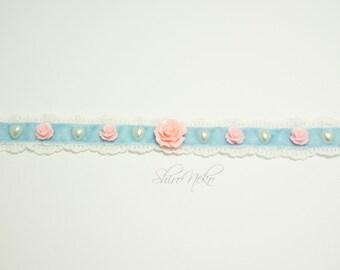 Roses lolita pastel goth choker