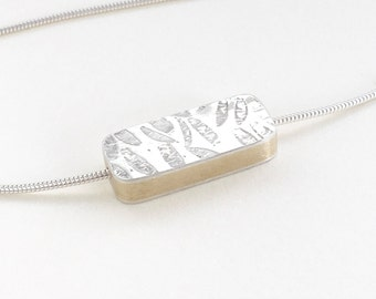 reversible silver copper brass lozenge necklace